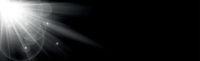 sol brilhante em um fundo preto - ilustração