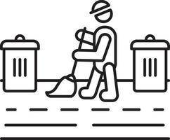 ícone de linha para zeladoria vetor