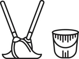 ícone de linha para sanitários vetor