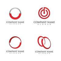 modelo de vetor de logotipo de círculo vermelho abstrato