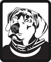 ilustração de personagem de cabeça de cachorro vetor