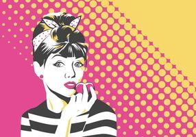 Mulher Pop Art Vector Illustration