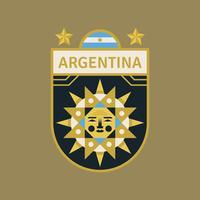 Emblemas do futebol da copa do mundo de Argentina vetor