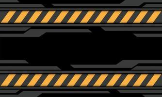 abstrato cinza preto cyber amarelo linha cautela símbolo design moderno futurista tecnologia fundo ilustração vetorial. vetor