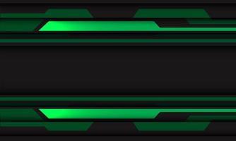 abstrato verde cinza circuito cibernético geométrico com espaço em branco banner design ilustração em vetor fundo tecnologia futurista moderna.