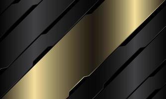 abstrato ouro bandeira cinza metálico circuito preto cyber barra geométrica design moderno luxo futurista tecnologia fundo ilustração vetorial. vetor