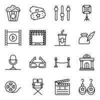 conjunto de ícones de itens de festa e celebração vetor
