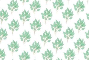 galho de árvore folhas padrão sem emenda. ilustração vetorial. folhas padrão sem emenda para embrulho, têxteis, papel de parede, papel. ramos naturais de árvore de eucalipto com padrão sem emenda de folhas verdes. ilustração vetorial decorativa fofa elegante verde vetor