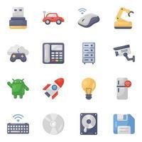conjunto de ícones de dispositivos eletrônicos modernos vetor
