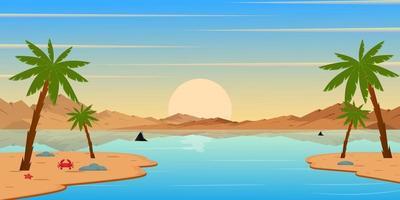 incrível paisagem de fundo da ilha vetor