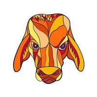 brahma cabeça de touro, mosaico colorido vetor