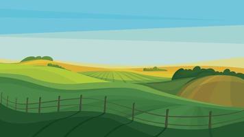 belos campos agrícolas. vetor