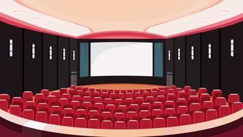 sala de cinema vazia. vetor