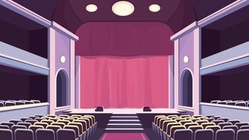 sala de teatro vazia. vetor