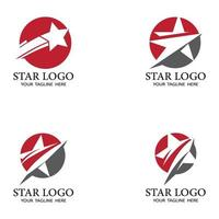 conjunto de design de ilustração vetorial modelo de ícone de estrela vetor