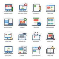 blogging e criação de conteúdo vetor