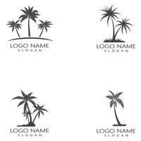 palmeira verão logotipo modelo conjunto de ilustração vetorial vetor