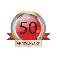 Ilustração de desenho vetorial celebração de aniversário de 50 anos vetor