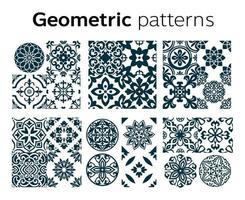 desenho de padrões geométricos em ilustração vetorial vetor