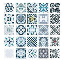 azulejos antigos padrões portugueses design sem costura antigo em ilustração vetorial vetor