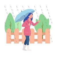brincando com a chuva vetor