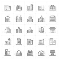 ícones de linha de construção. ilustração vetorial no fundo branco. vetor
