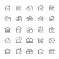 ícones de linha de casa. ilustração vetorial no fundo branco. vetor