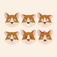 Ilustração de emoções de cão de vetor