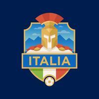 Emblemas do futebol da copa do mundo de Italy vetor