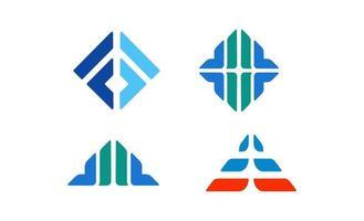 coleção de design de logotipos abstratos vetor