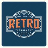 Tipografia Retro plana com ilustração em vetor Vintage Background