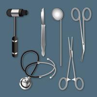 Ferramentas médicas realistas vetor