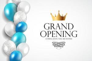 grande inauguração fundo de banner de convite de luxo. ilustração vetorial vetor
