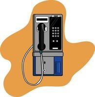 telefone público clássico vintage perfeito para projeto de design vetor