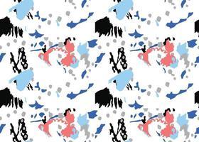 fundo da textura do vetor, padrão sem emenda. mão desenhada, cores vermelhas, azuis, cinza, pretas, brancas. vetor