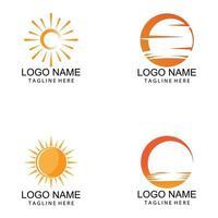 sol ilustração vetorial ícone logotipo modelo de design vetor