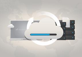 Mineração de dados e sistema de computação em nuvem vetor