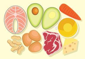 Comida de dieta cetogênica vetor