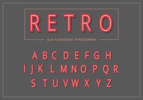 Conjunto de tipografia Vintage retrô vetor