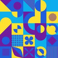 fundo geométrico estilo mosaico abstrato vetor