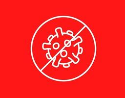 parar o sinal de coronavírus. surto de coronavírus. parar o conceito de vetor pandêmico