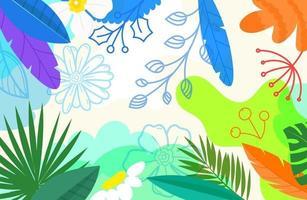 papel de parede artístico do doodle criativo. fundo abstrato com formas geométricas de cor mão desenhada. ilustração de estilo esboçado vetor