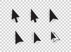 conjunto de ícones de cursores de seta de computador vetorial isolado vetor