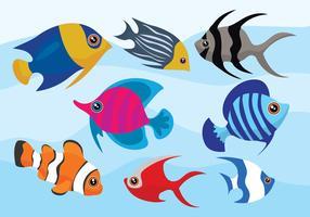 Vetores de peixe dos desenhos animados