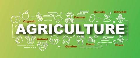 banner moderno de vetor de agricultura