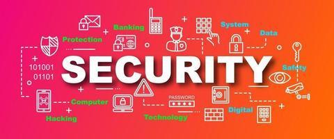 banner moderno de vetor de segurança