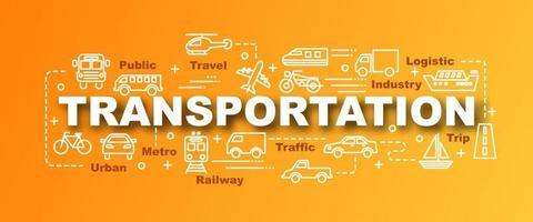 banner moderno de vetor de transporte