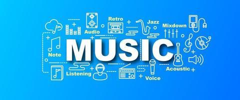 banner moderno de vetor de música
