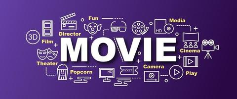 banner moderno de vetor de filme