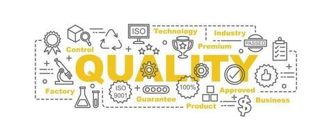 banner de vetor de controle de qualidade